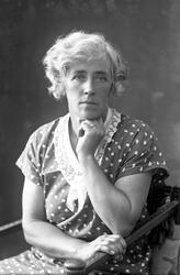Anna Käck porträtterad av sin bror Oscar Färdig