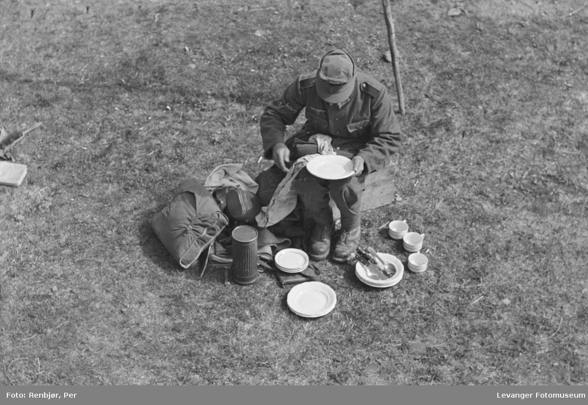 Tysk soldat raster.