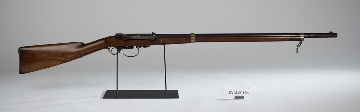 Ole Herman Johannes Krags aspirantprøve. Ole Karg ble beordret som kontrolloffisersaspirant til KV 15.9.1866.