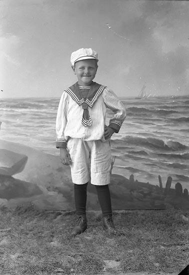 "Enligt fotografens journal nr 2 1909-1915: ""Andersson, Albin Myggenäs gosse Hjälteby""."