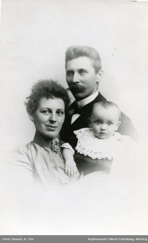 Anton Kværnø, Ingeborg Dordis Hoff Kværnø og Alf Hoff Kværnø