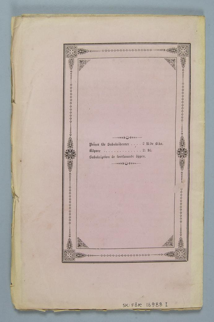 """Bokband, fyra böcker, pappersband: """"Atlas öfver de märkvärdigaste fältslag, träffningar och beläggningar under äldre och nyare krig"""", volym 1 - 4.  Häftad3 och oskurena i tryckta rosa omslag."""