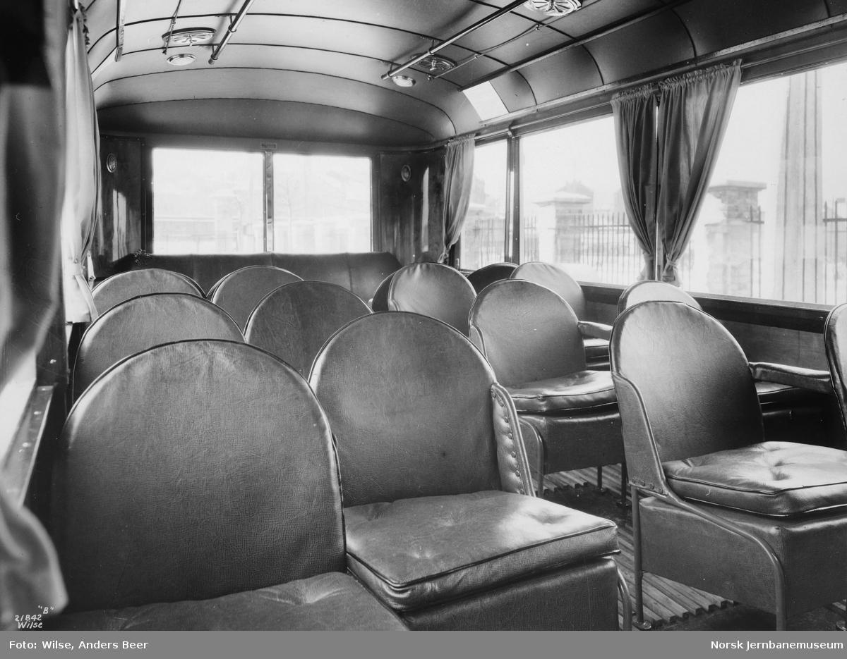Interiørbilde fra buss
