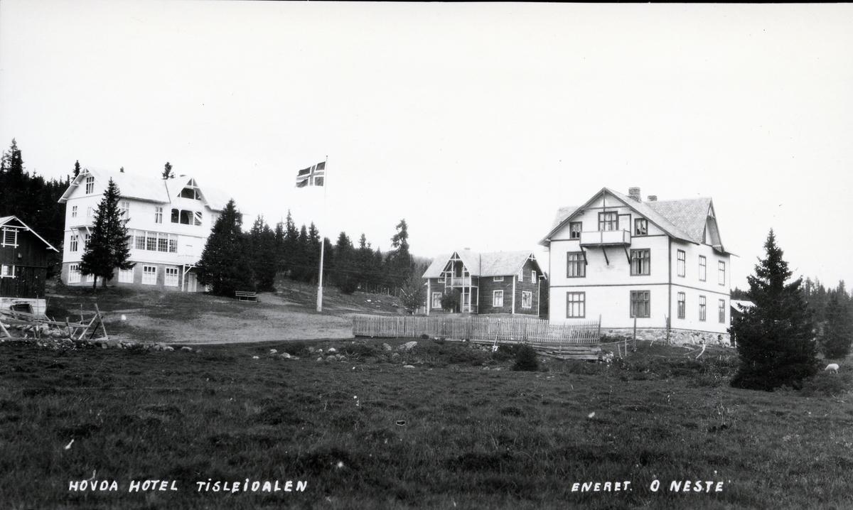 Bygninger ved Hovda hotell i Tisleidalen