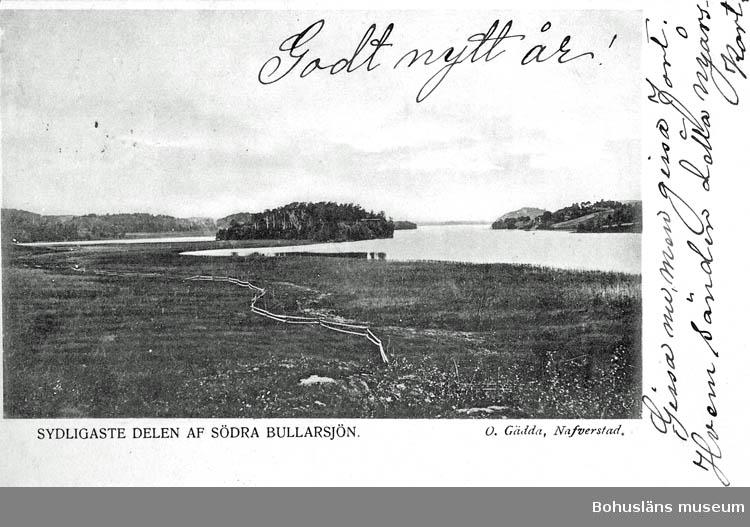 """Text på kortet:"""" Sydligaste delen af södra Bullarsjön""""."""