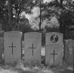 Gravstenar för ilandflutna från Skagerrakslaget 1916