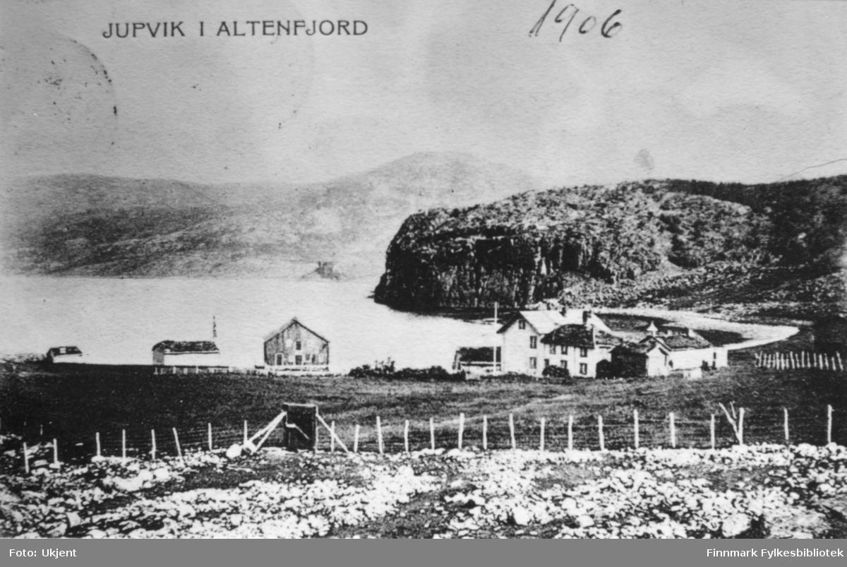 Bildet viser Jupvik i Altafjorden, 1906. Foto: Ukjent.