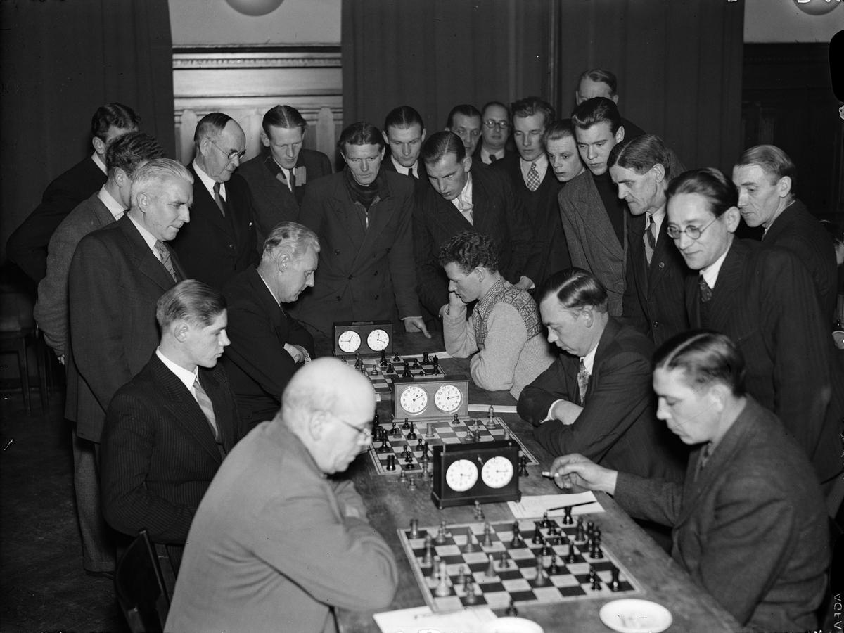 Schacktävling, Uppsala 1945