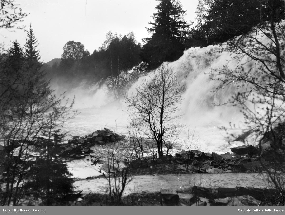 Foss i Mesnaelva, Lillehammer 1910