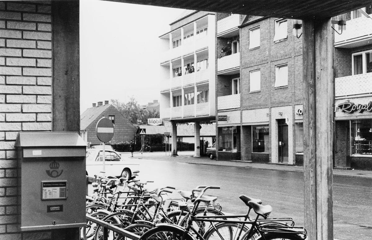 Ängelholm, postkontor.  Foton 1/10 1970.