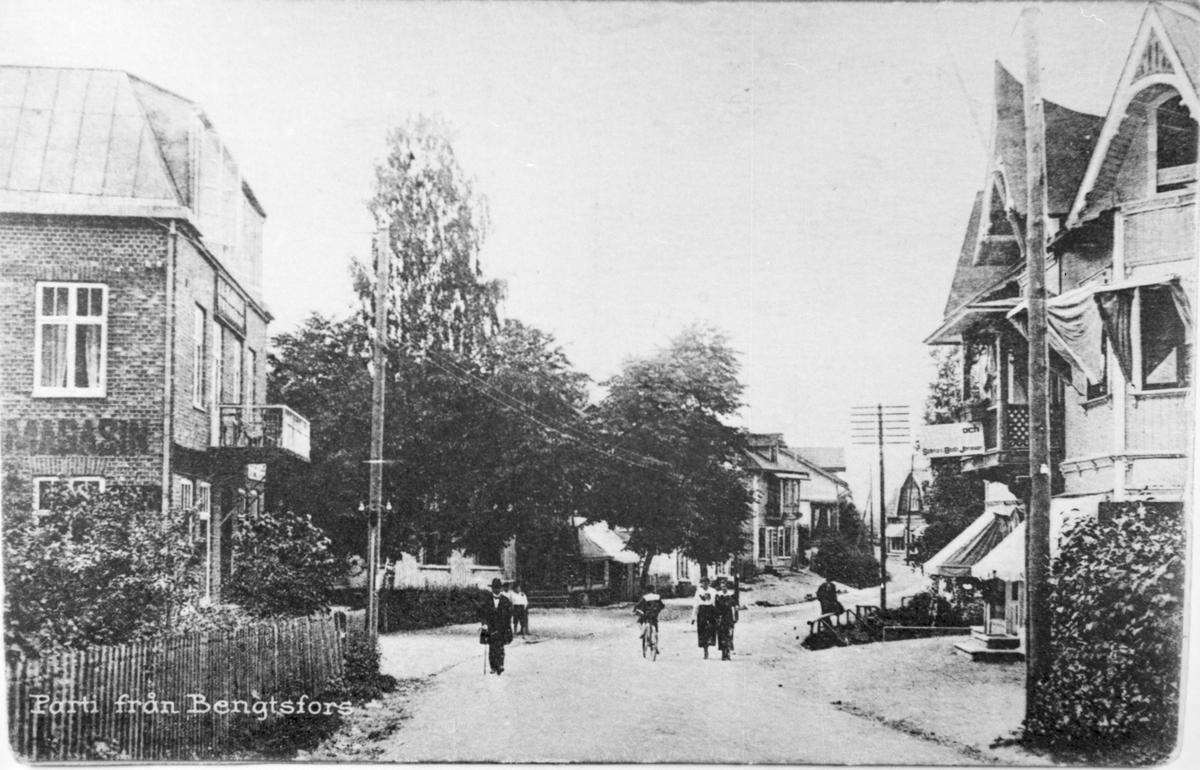 Gatuparti över Bengtsfors  1915