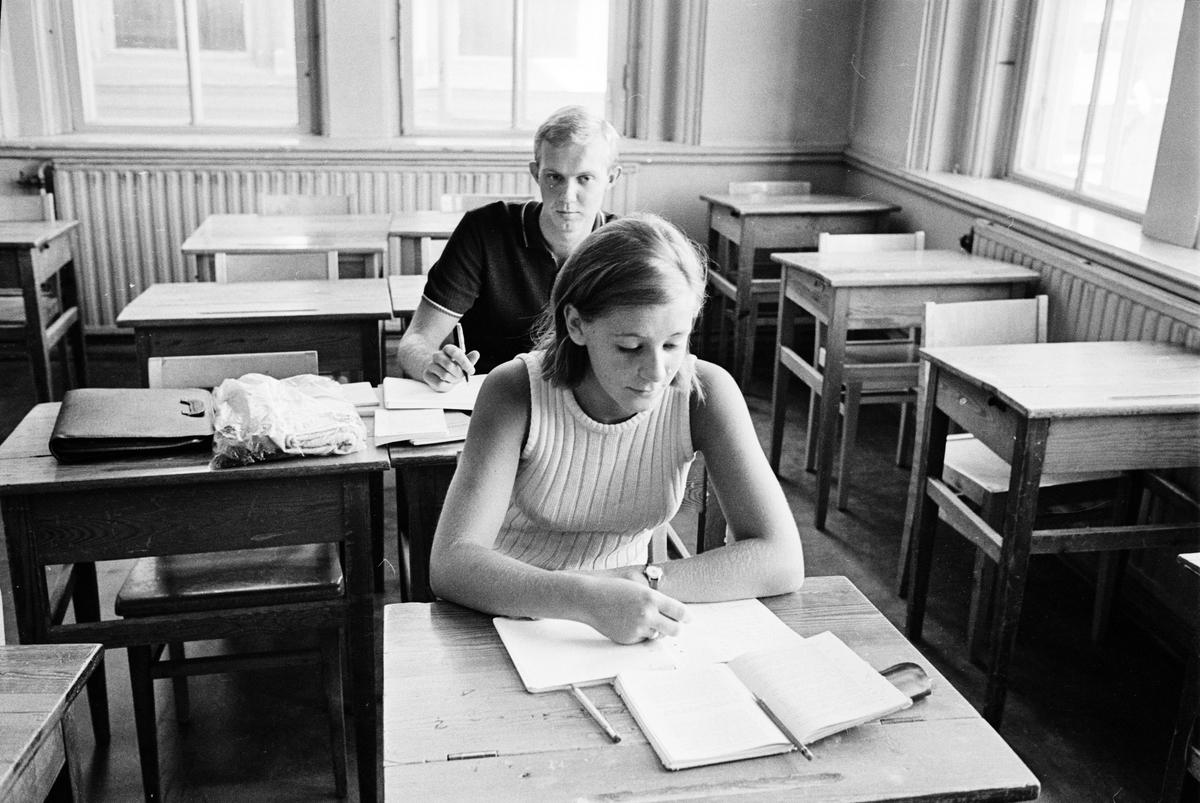 Katedralskolan - ferieskola, Uppsala, juli 1966