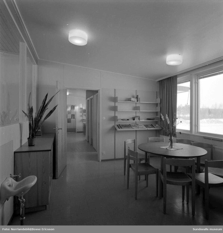 Nolby skola, exteriör- och interiörbilder.