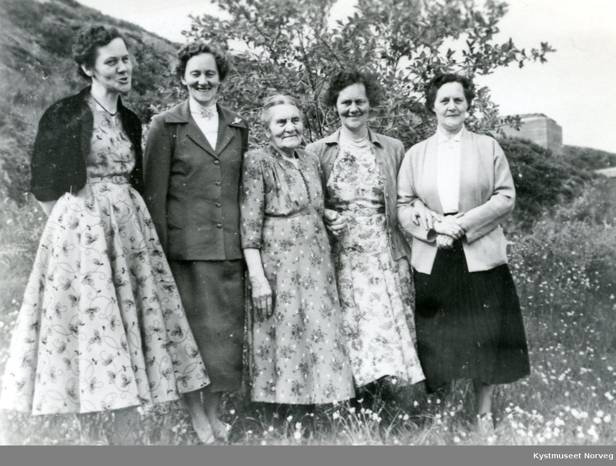 Fra venstre: Elise Hansen, Sara Hatland, Erikke Grindvik, Johanna Kvalø og Martha Hatland