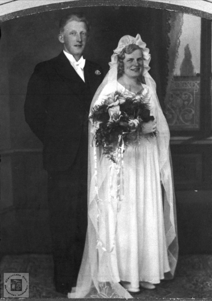 Brudeparet Kristi og Alexander Skeibrok