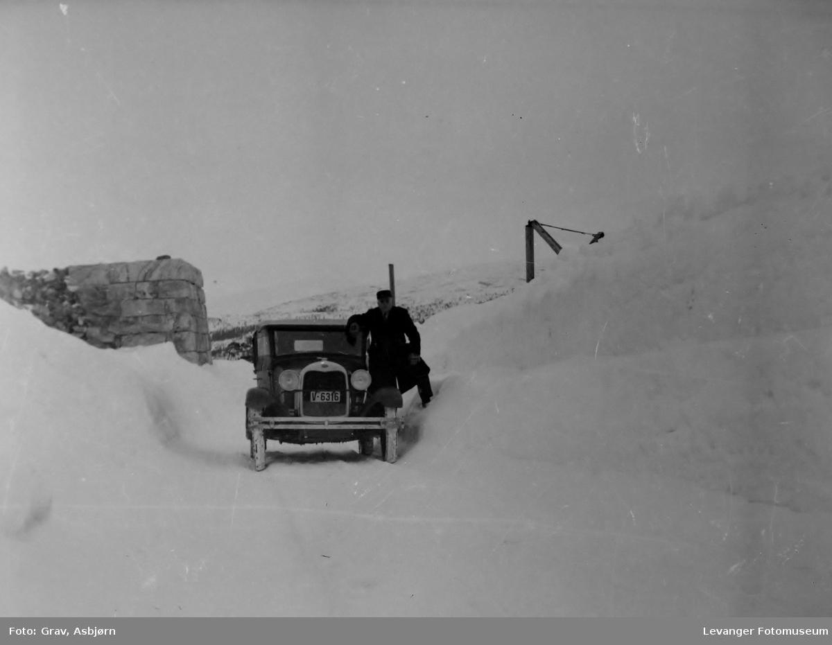 Ford 1928 i vinterlandskap