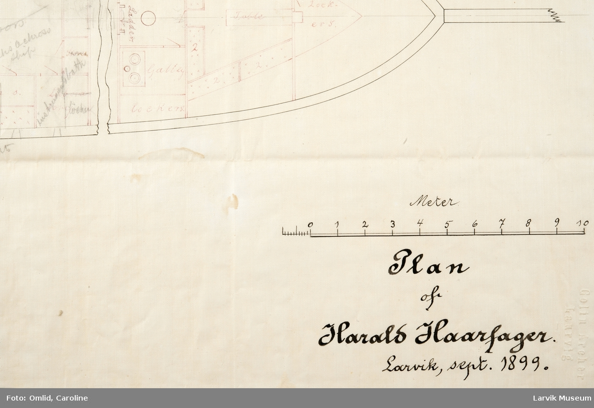 """Plan av """"Harald Hårfagre."""