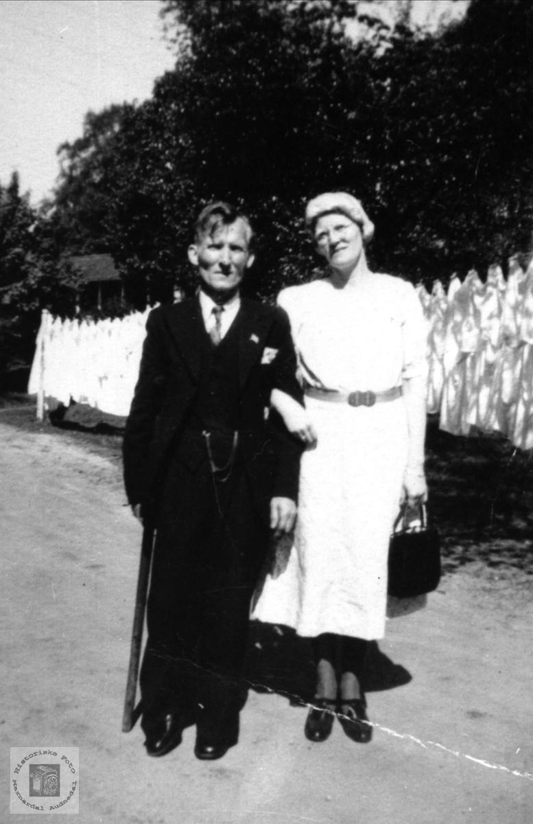 Ekteparet Amalie og Ola Glomså.