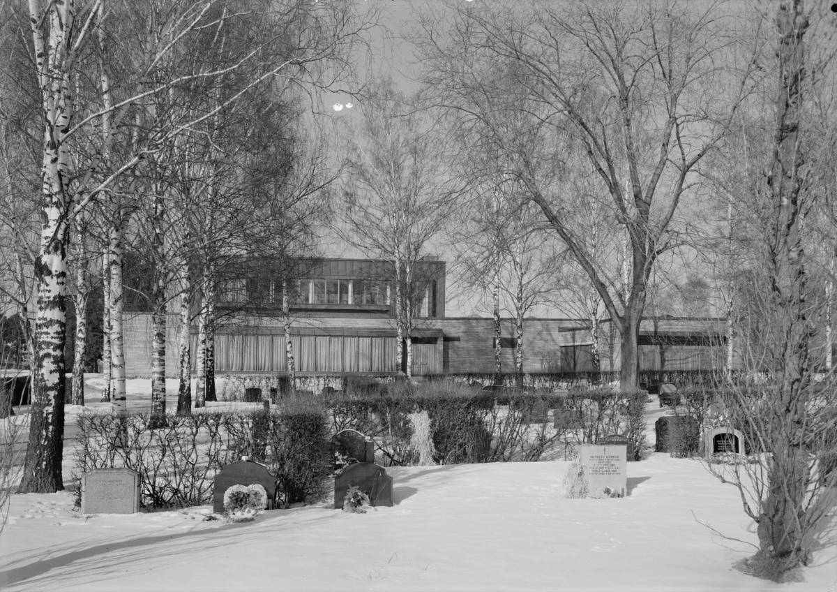 Arkitekturfotografier av krematoriet på Østre gravlund.