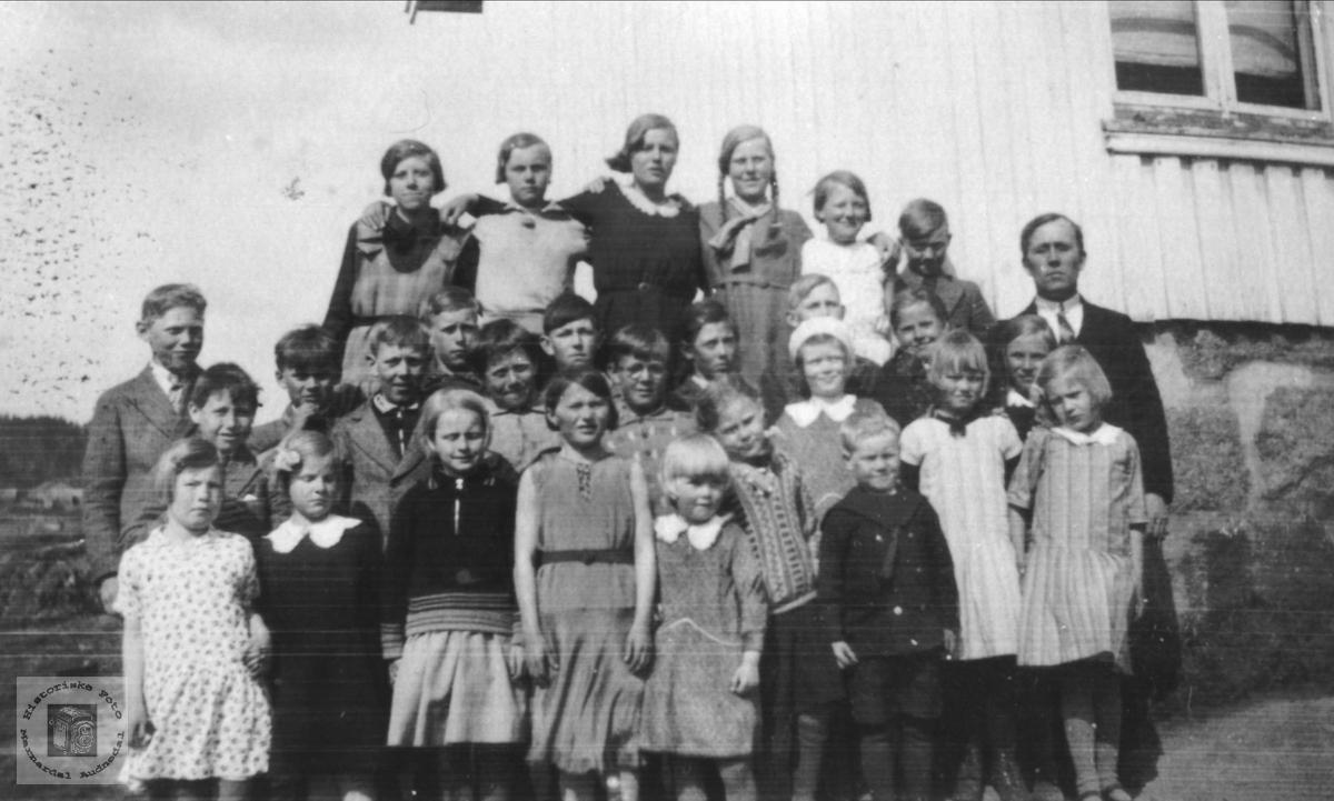 Skoleelever, Tisland skole, Laudal.