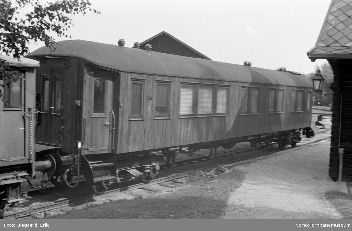 NSBs kongevogn litra Ao nr. 206 på Jernbanemuseet