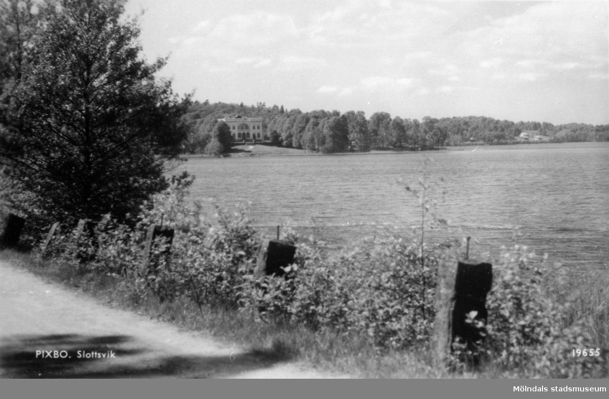 Vy över Porsvik i Rådasjön mot Slottsviken, 1960-tal.