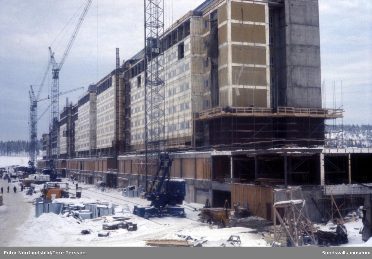 Bygget av Sundsvalls nya sjukhus.