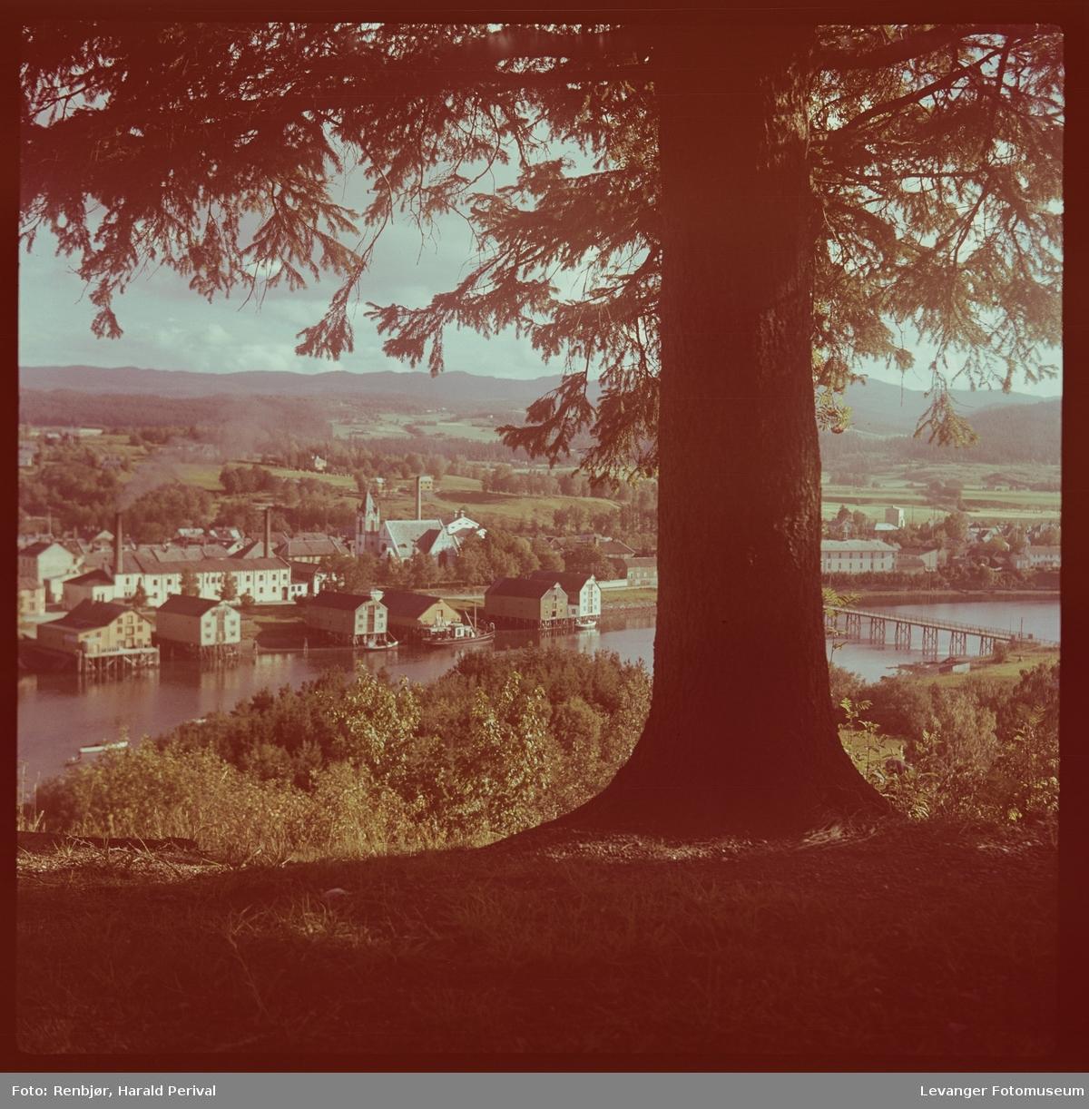 Utsikt over Levanger fra Staupshaugen.