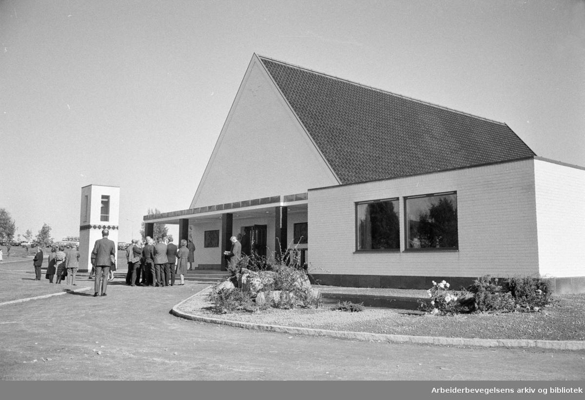 Innvielse av Alfaset kapell. September 1972