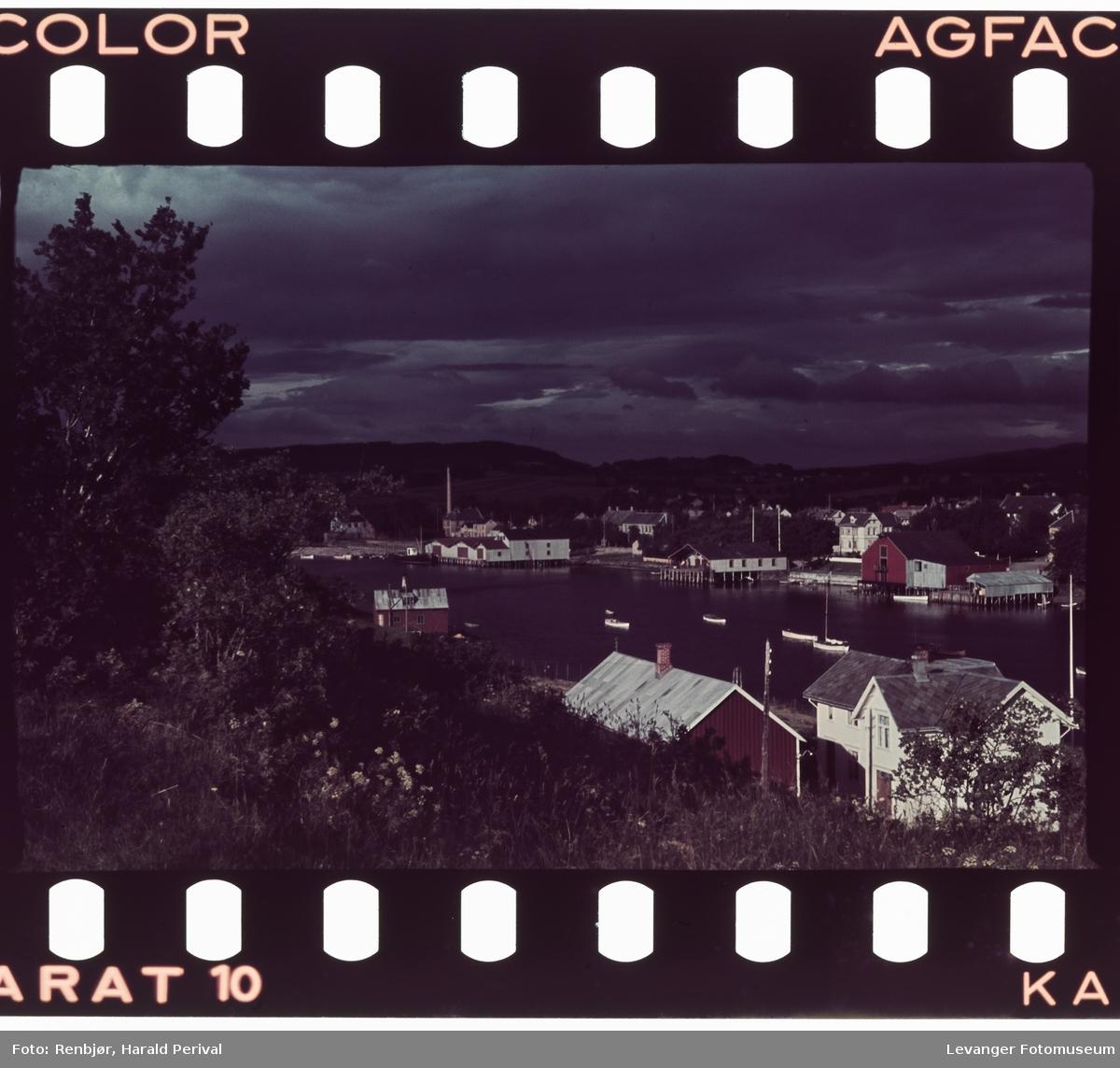 Utsikt over Levanger sett fra Nesset.