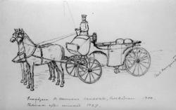 """""""Godsägaren V Vallmans landålett, Saltkällan 1900. Tecknat e"""