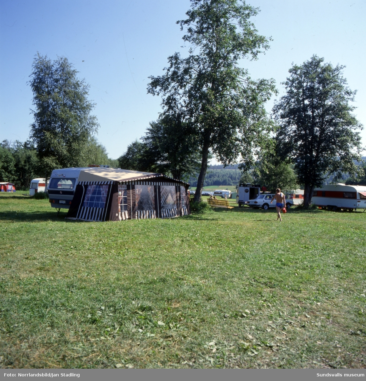 Bergsåkers campingplats vid Selångerfjärden.