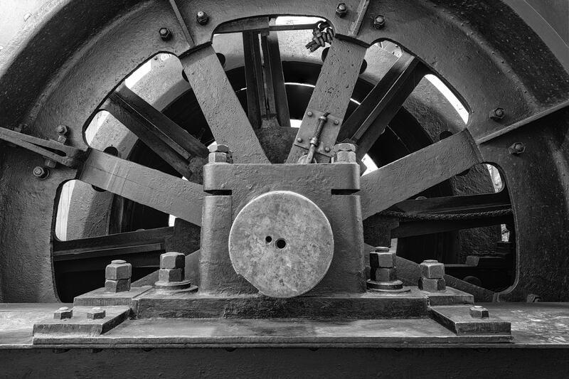 Hjul som heiselinen blir rullet rundt. (Foto/Photo)