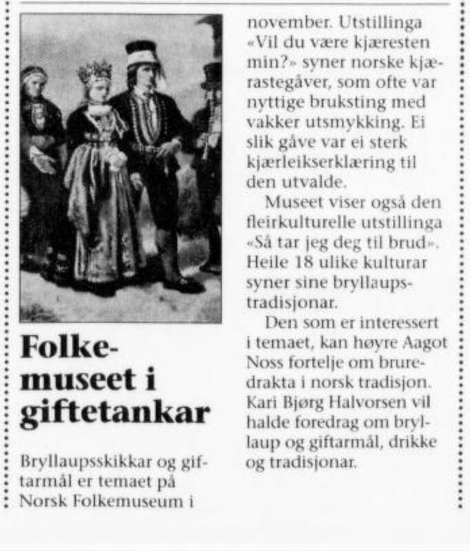 Dag og tid 9. november 1995 (Foto/Photo)