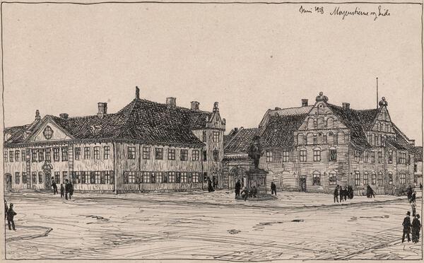 Collettgården på Christianiatorg. Foto/Photo