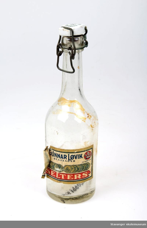 Seltersflaske fra Gunnar Løvik, Stavanger.