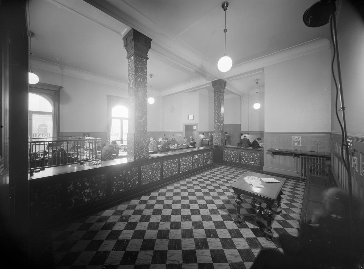 Bøndernes Bank, ekspedisjonslokalene