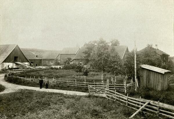 Gamle Hvam ca 1895. Foto/Photo