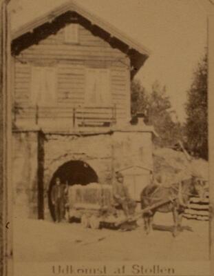 Historisk bilde, mundlochet ved Saggrenda (Foto/Photo)