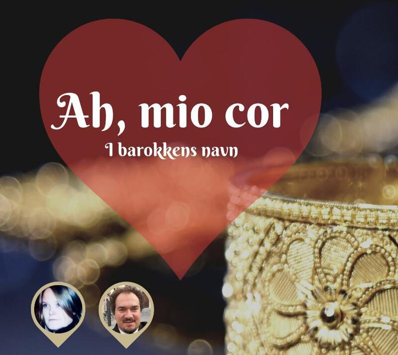 Hjerte og gullborkadebånd som illustrasjon for konserten Ah, mio cor - i barokkens navn. (Foto/Photo)