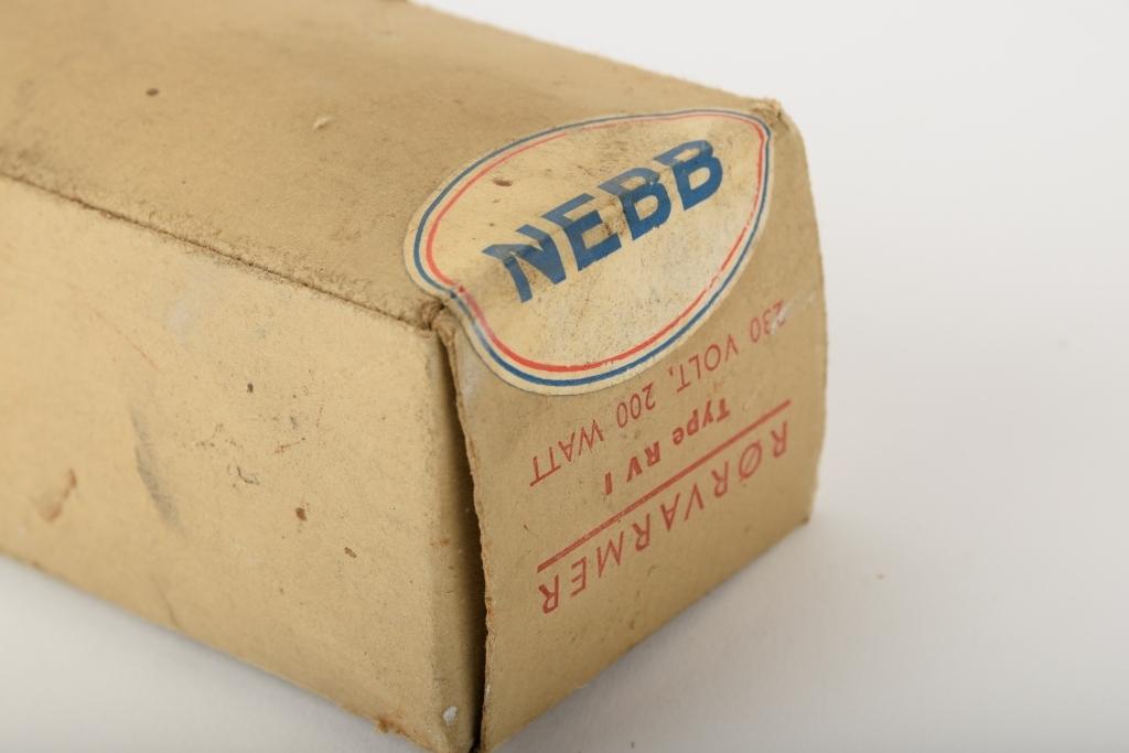 Rørvarmer med original pappemballasje.