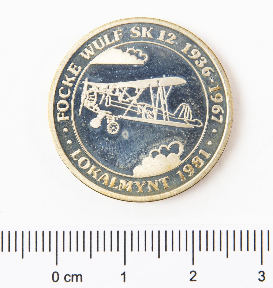Lokalmynt på 150kr, från Ljungbyhed.