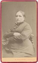Kabinettsfotografi - fru Tärnström, Uppsala 1880