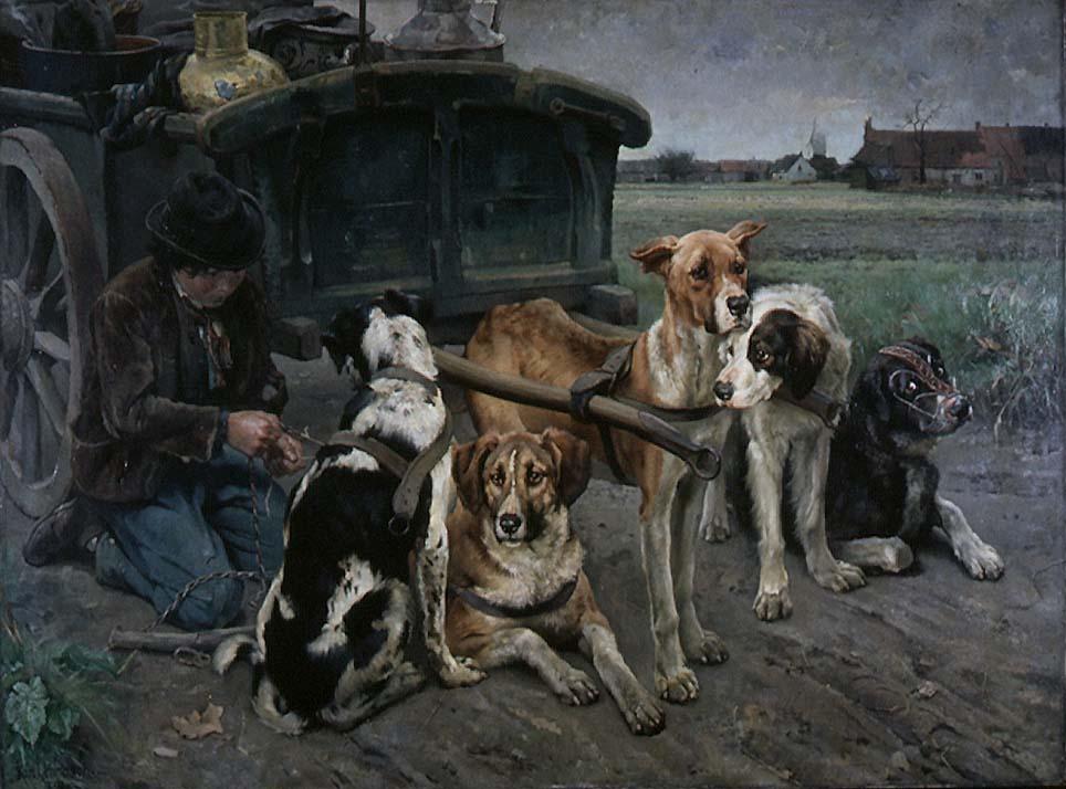 Flamsk hundeforspann [Maleri]