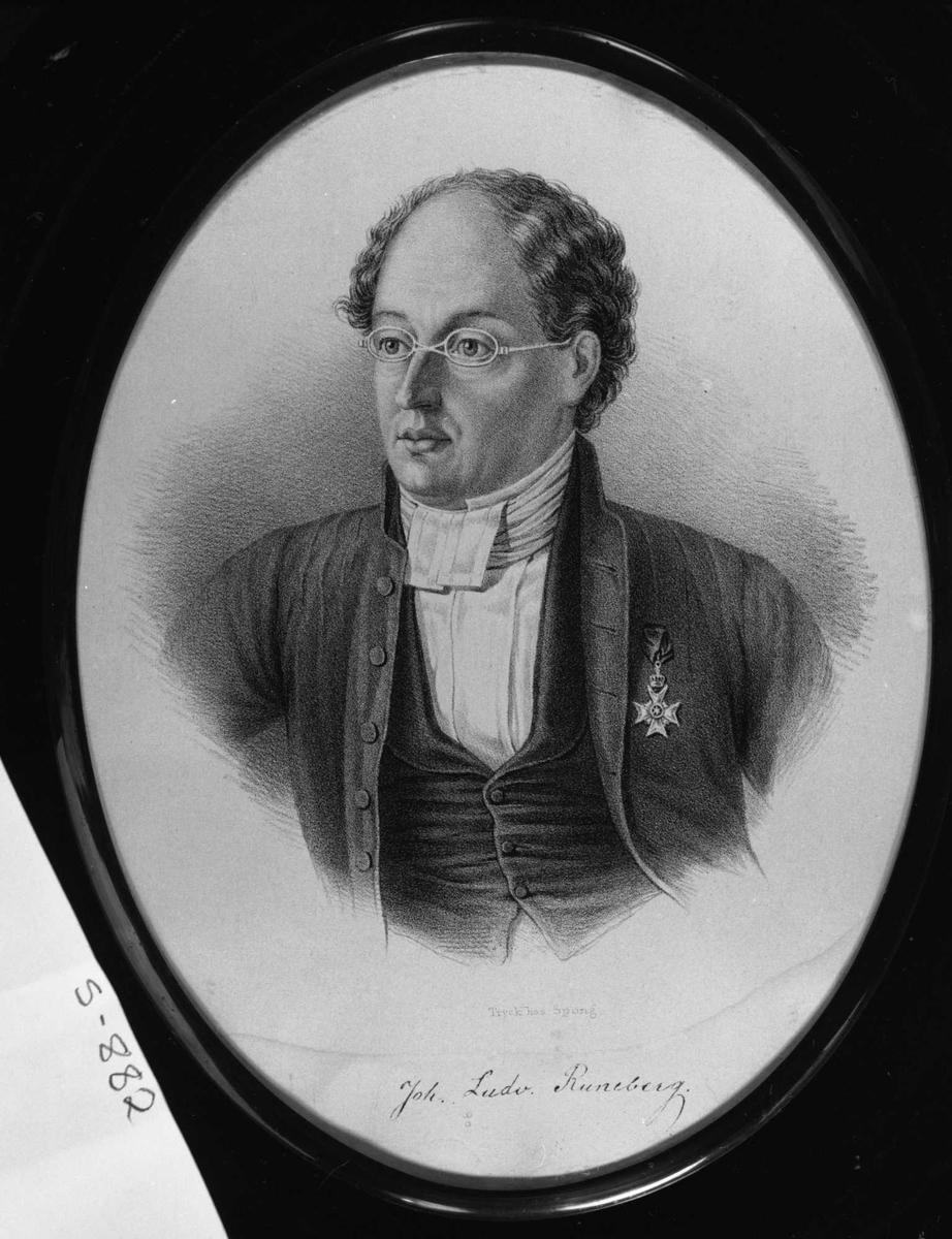Runeberg, litografi, repro,