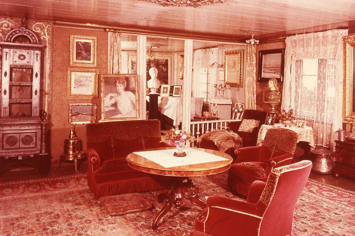 DOK.1960-tallet, Aulestad, interiør, stue,