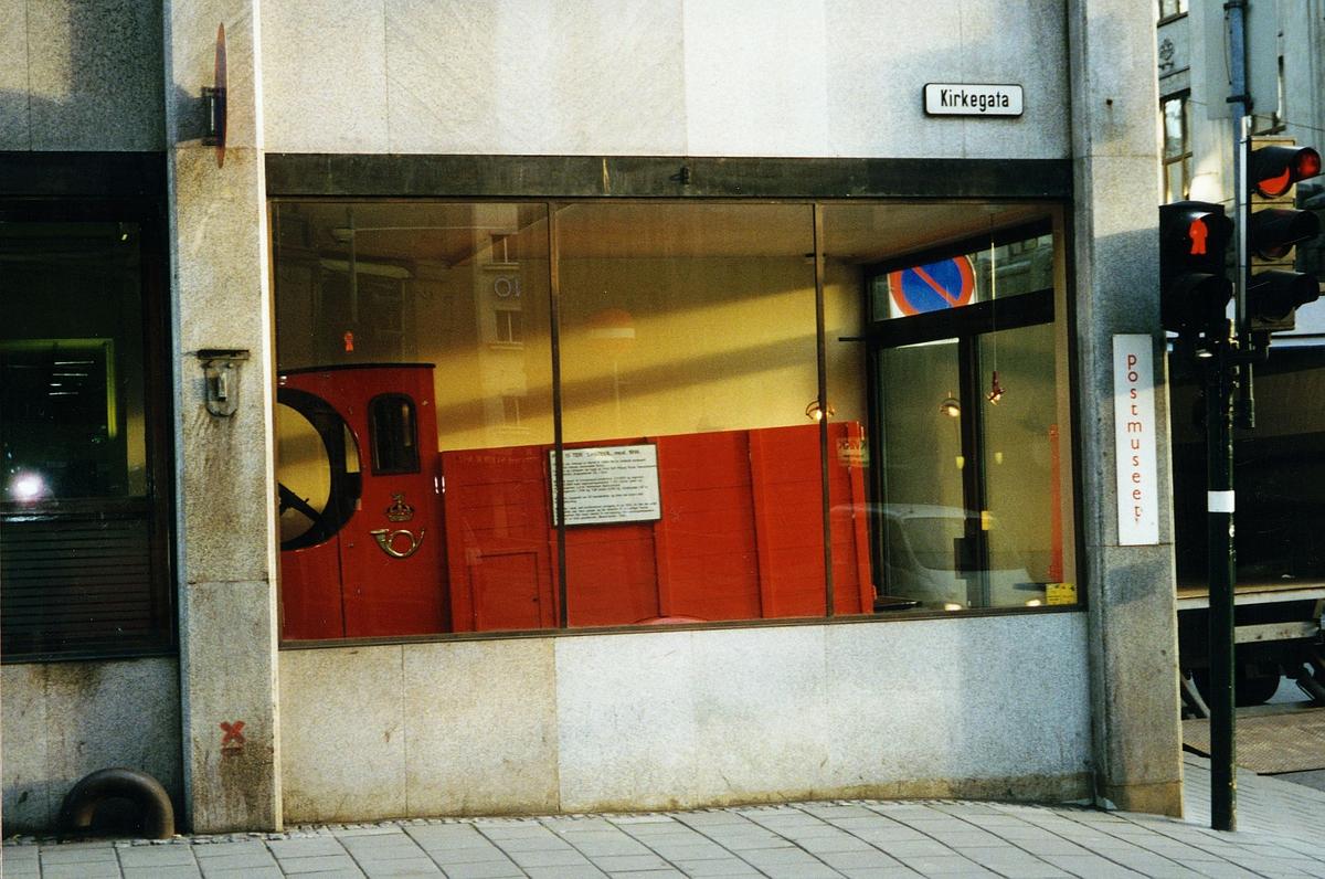 eksteriør, Postmuseet, Kirkegaten 20, Fiat lastebil utstilt innenfor
