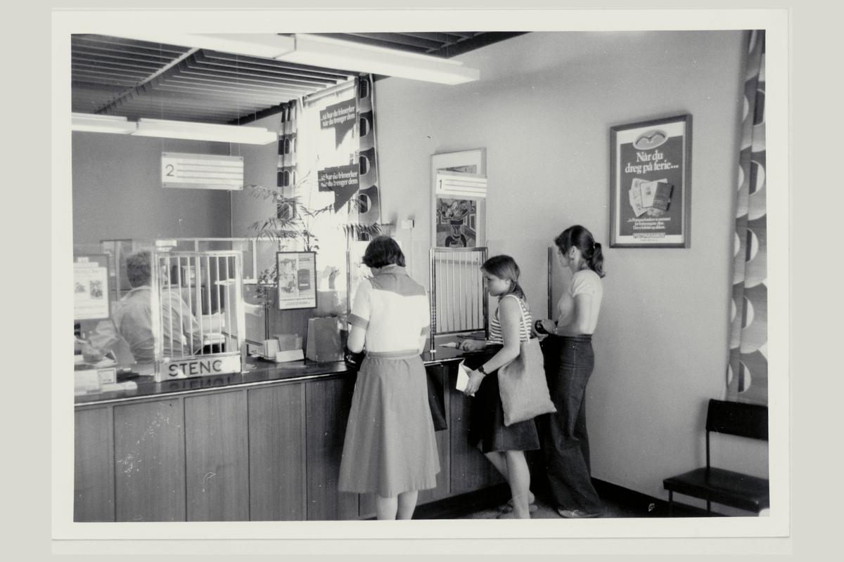 interiør, postkontor, 3660 Rjukan, kunder