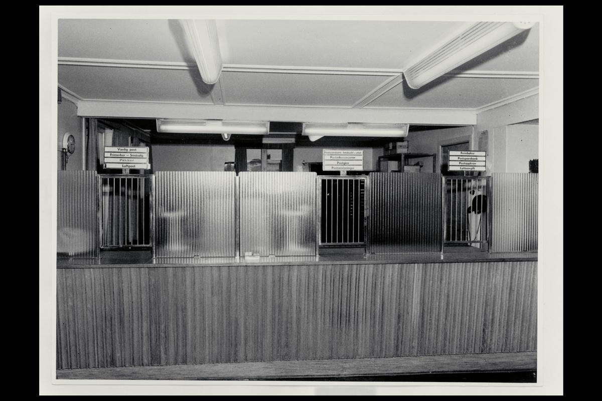 interiør, postkontor, 4790 Lillesand, publikumshall