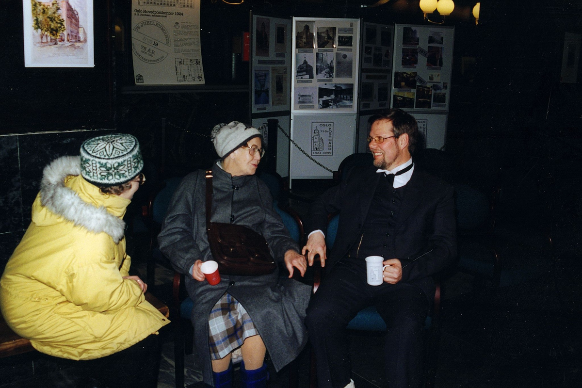 postjubileum, Oslo Sentrum postkontor 75 år, Jan Angeltun, kunder